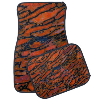 Red Petrified dinosaur bone Car Mat