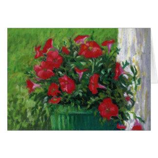 """""""Red Petunias"""" Card"""