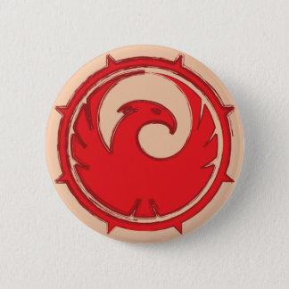 Red phoenix bird emblem badge