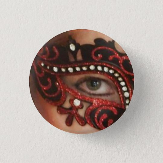 Red Phoenix Masked Eye Button