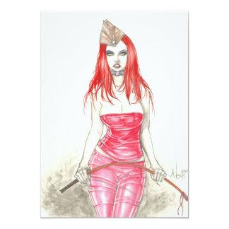 Red Phoenix Rising Invitation