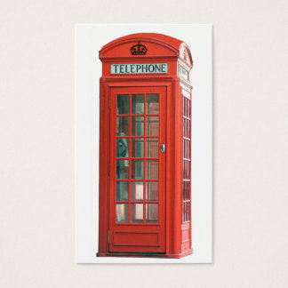 Red Phone Booth Business Card