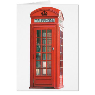Red Phone Booth Greeting Card