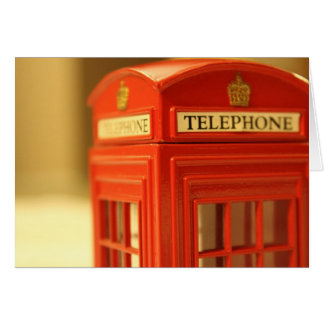 Red Phone Booth Note Card
