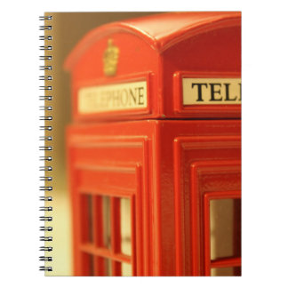 Red Phone Booth Spiral Note Book