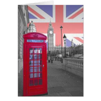 Red Phone box Big Ben Card