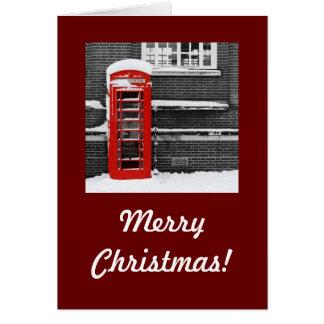 Red Phone Box Card