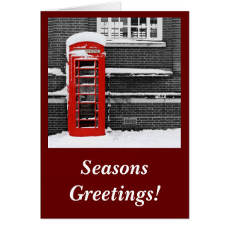 Red Phone Box Card