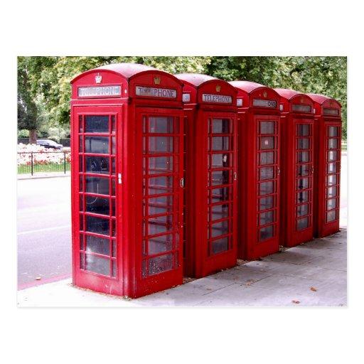 red phone box postcard