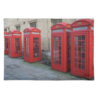 Red phone boxes placemat