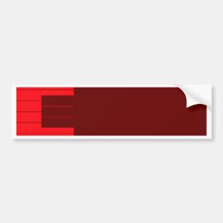 Red Piano Keys Bumper Sticker
