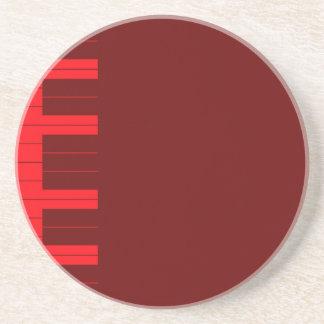 Red Piano Keys Coaster