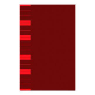 Red Piano Keys Stationery Design