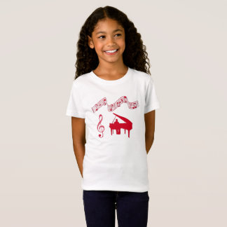RED PIANO MUSIC T-Shirt