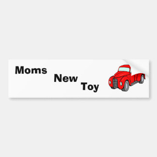 red_pick-up_truck, Moms, Toy, New Car Bumper Sticker