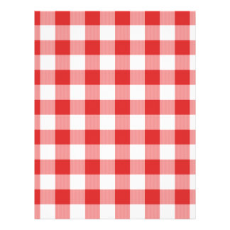 Red picnic checkers flyer design