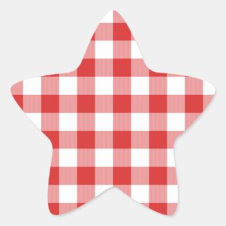 Red picnic checkers sticker