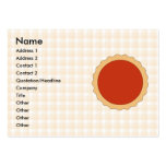 Red Pie. Strawberry Tart. Beige Check. Business Cards