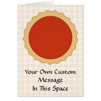 Red Pie. Strawberry Tart. Beige Check. Greeting Card