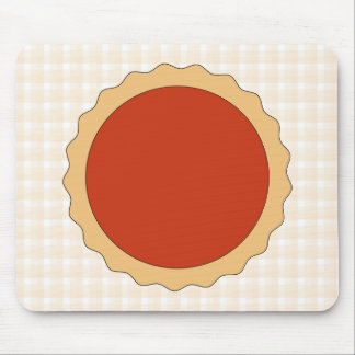 Red Pie. Strawberry Tart. Beige Check. Mouse Pad