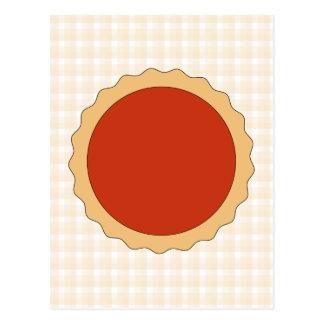 Red Pie. Strawberry Tart. Beige Check. Postcard