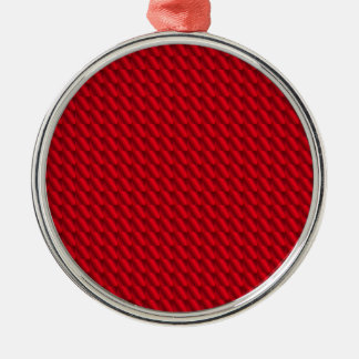 Red Pile Background Christmas Ornament