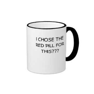Red pill coffee mug