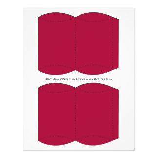 Red  Pillow Puff Box Template 21.5 Cm X 28 Cm Flyer