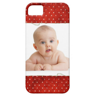 Red pin dots with photo iPhone 5 covers