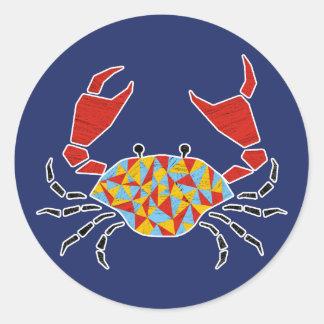 Red Pinching Crab Sticker