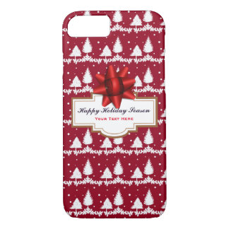 Red Pine Trees Holly and Snow iPhone 8/7 Case