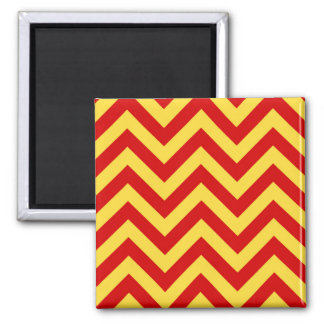 Red, Pineapple Large Chevron ZigZag Pattern Magnet