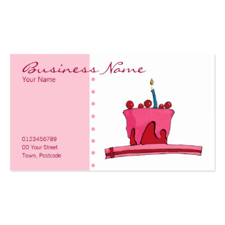 Red & Pink Cake Business Card
