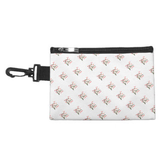 Red Pink Cherry Blossom accent Accessory Bag
