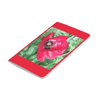 Red / Pink Flower Photo Designer Pocket Journal