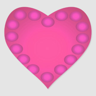 Red Pink Heart Stickers Fun Pretty Girly