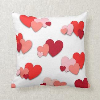 Red & Pink Heart Throw Pillow Throw Cushion