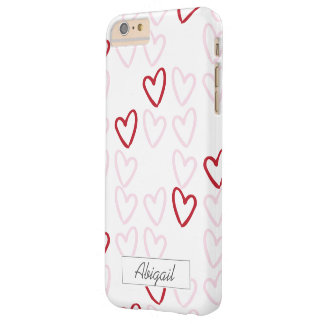 Red & Pink Hearts Monogram Phone Case