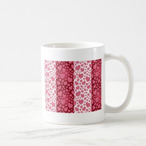 Red & Pink Hearts Coffee Mug