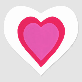 Red Pink Layered Hearts Stickers
