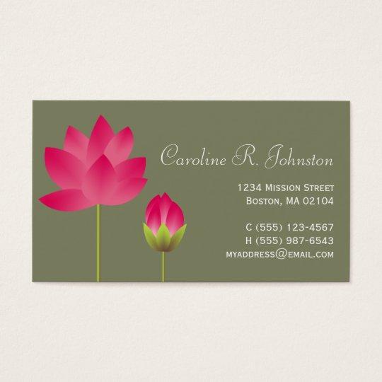 Red pink lotus flower modern tea green personal