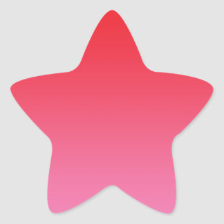 Red & Pink Ombre Star Sticker
