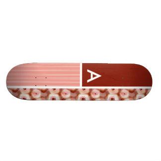 Red & Pink Pentagon Pattern Skateboard