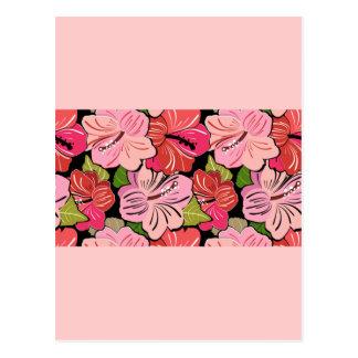 red-pink postcard