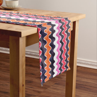 Red Pink Test Pattern Short Table Runner