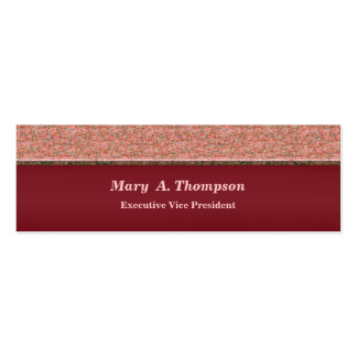 Red Pink Texture Pack Of Skinny Business Cards