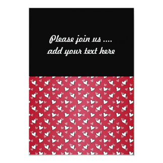"""Red Pink White Heart Pattern 5"""" X 7"""" Invitation Card"""