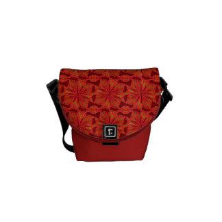 Red Pinwheel Pattern Mini Messenger Bag