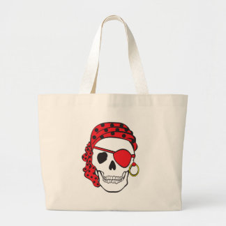 Red Pirate Skull Bag