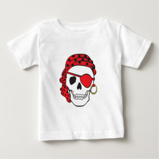Red Pirate Skull Tee
